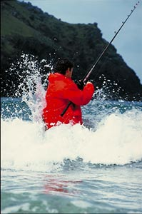Fishing in surf can make for challenging fishing