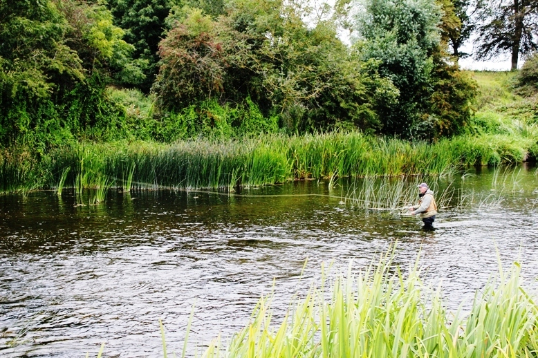 Un pêcheur à la mouche à Trim comte de Meath